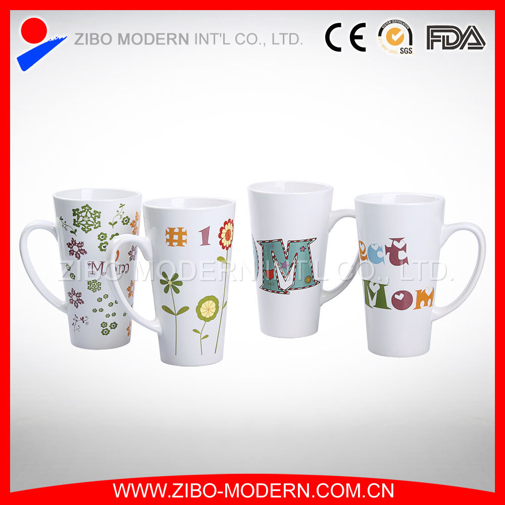 China Manufacturer Custom Logo White Porcelain Cups/Ceramic Mugs