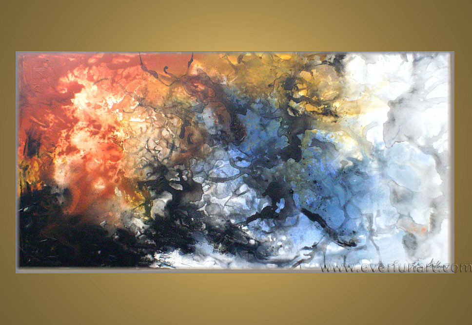 Image gallery modern abstract oil paintings for Contemporary mural art