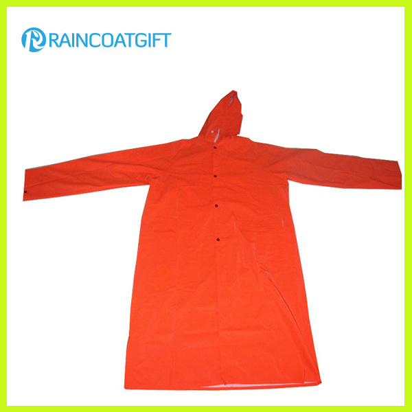 Rpp-026 Waterproof Durable PVC/Polyester Men′s Rainwear