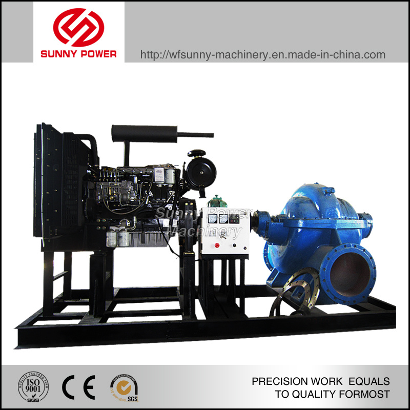 12inch Diesel Engine Water Pump for Irrigation Outflow Ranging