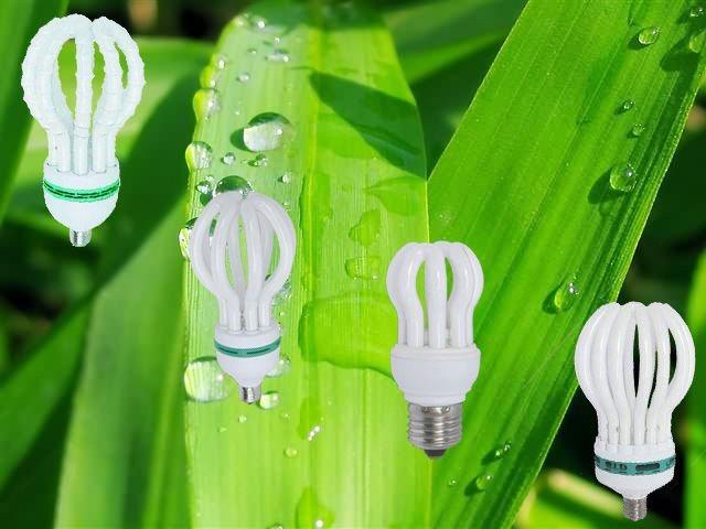 Energy Saving Lamp 125W Lotus Halogen/Mixed/Tri-Color 2700k-7500k E27/B22 220-240V