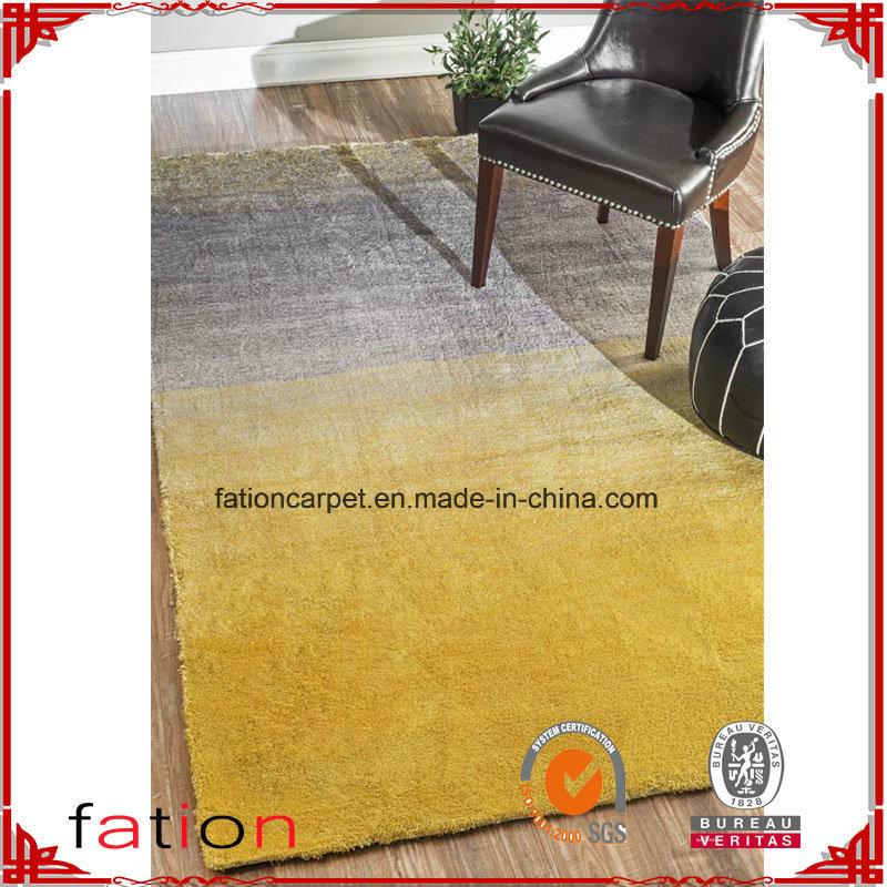 Modern Yellow 100% Polyester 5*8 Aera Rug Shaggy Carpet Shag Rug