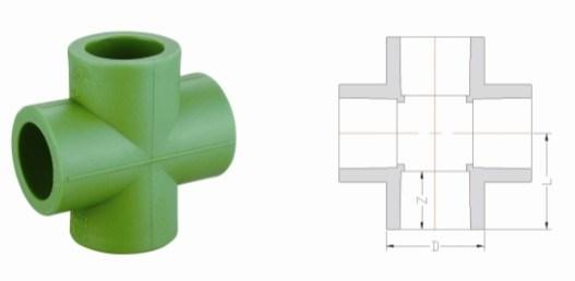 PPR Water Supply Pipe Fittings Cross (B25)