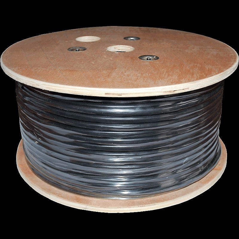 Outdoor-Rated CAT6 Solid, Gel-Filled Bulk Cable, Non-Armored