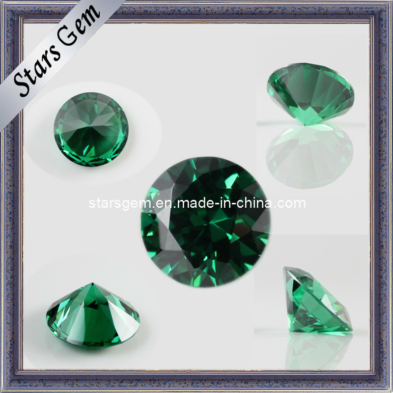 Competitive Price Emerald Color CZ Gemstone