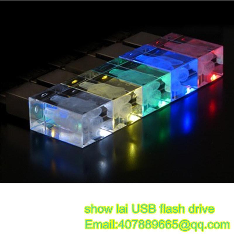 USB Flash Drive Glass Laser Logo OEM USB Stick USB Pendrives Flash Disk USB Memory Card USB 2.0 Flash drive memory Stick Thumb Drive