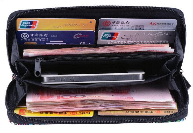 Canvas Zipped Kate Wallet Cash Holder Women Wallet