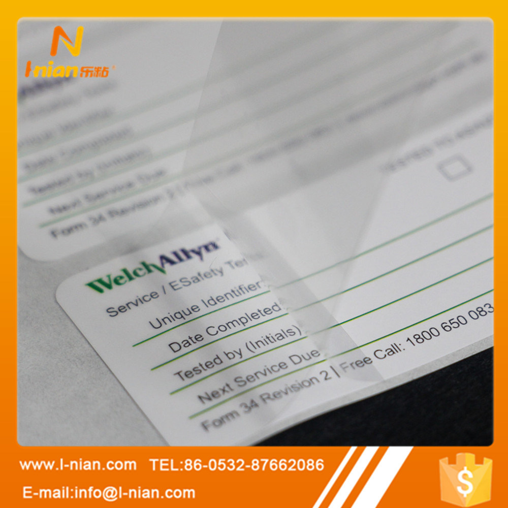 Double Layer Writable Label with Protection Film