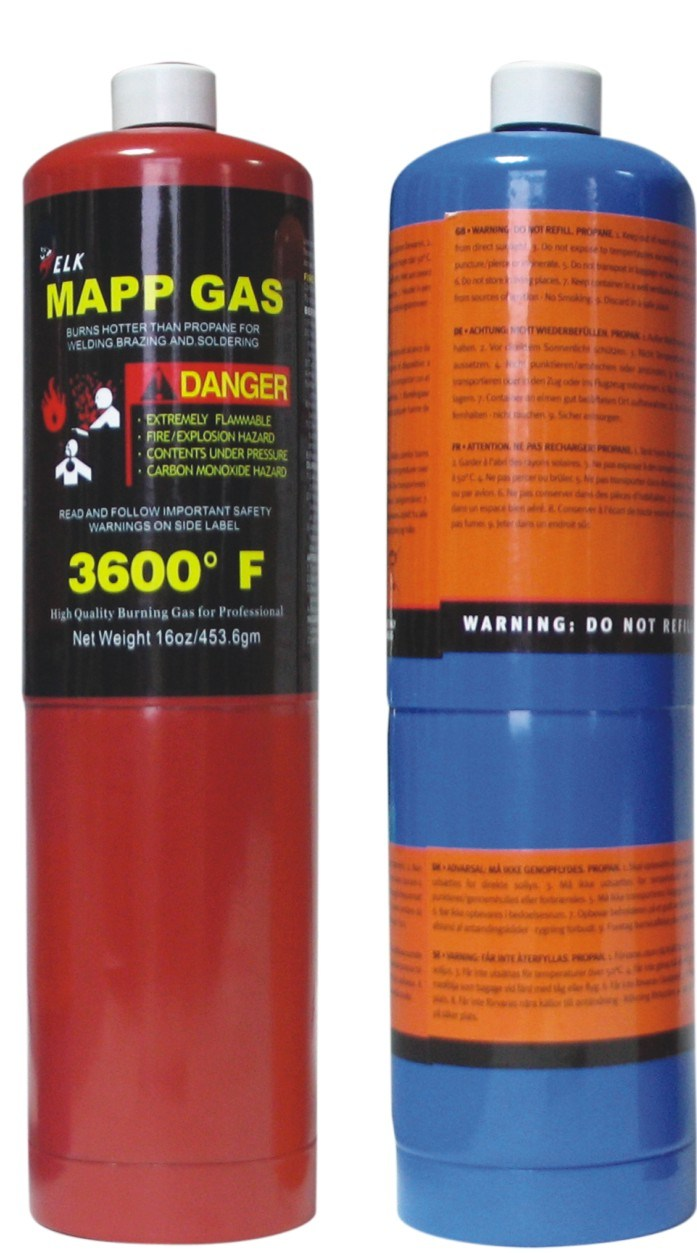 99.9% Purity Mapp Gas 16oz 453.6g for Wholesale