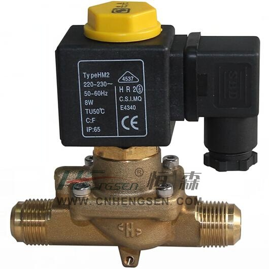 "D C F -06 Flare Refrigeration Solenoid Valve 3/4"" S a E /Normally Closed Solenoid Valve/Direct Operation Solenoid Valve Suitable for Air Conditioning System"