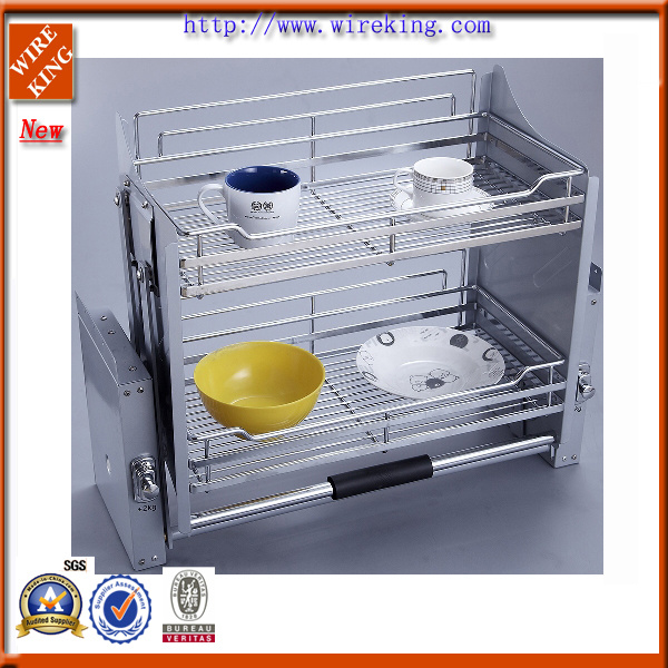 Kitchenware Rack Mesh Pull out Basket (WKB30019)