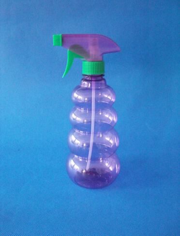 550ml Pet Plastic Bottle with Trigger Sprayer for Water Flower
