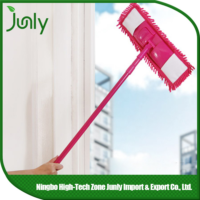 Rotary Extensible Short Handle Ceiling Cleaning Mop Microfiber