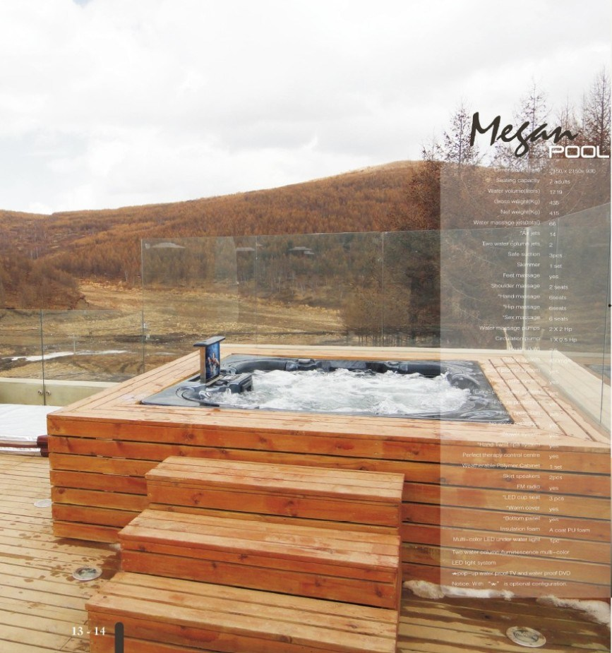 China 7 person outdoor spa jacuzzi hot tub photos for Jacuzzi spa exterior