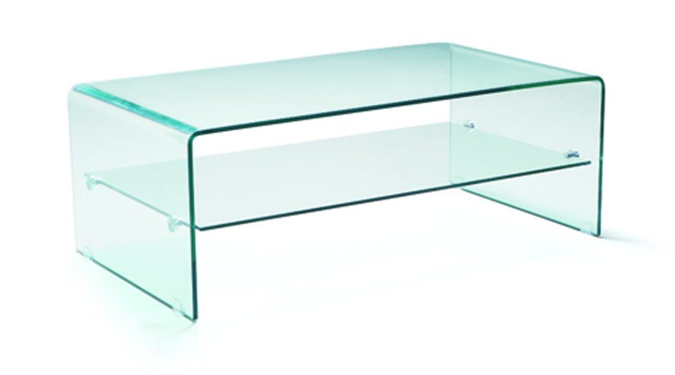 Transparent Colour Glass Table for Living Room (TB-536)