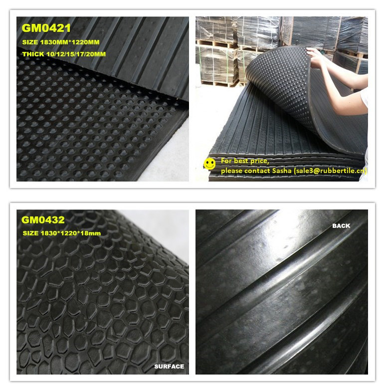 10, 12, 15, 17mm Rubber Mattresses for Cows and Horses