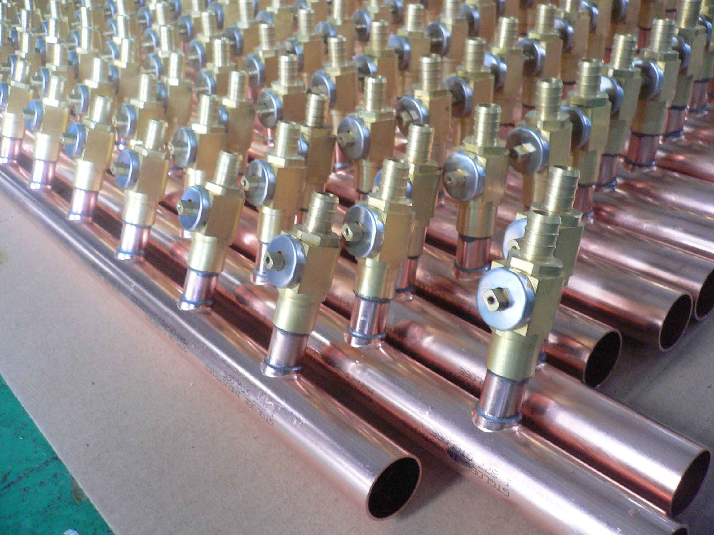 China copper manifold with ball valve photos pictures