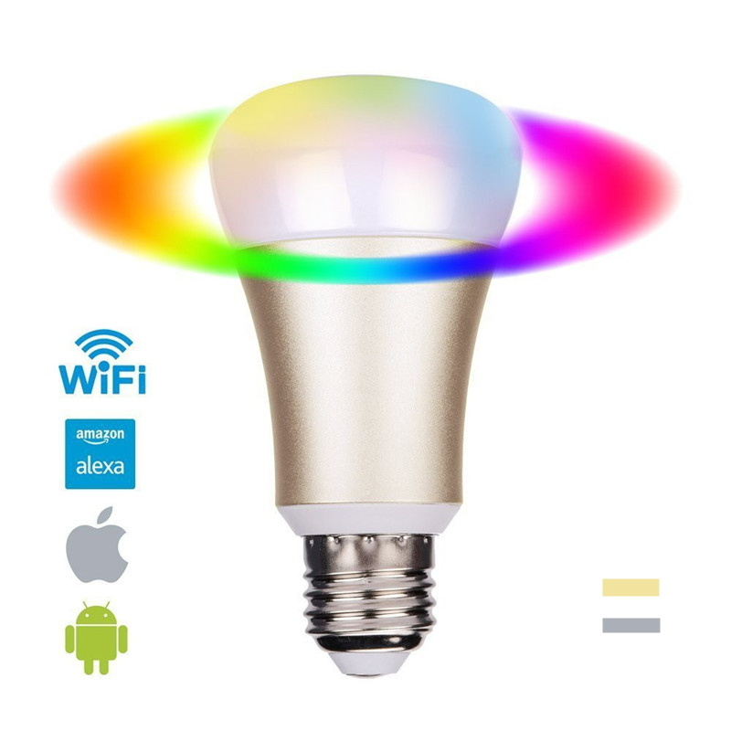 Smart Remote Control WiFi RGB Color Home Automation Lighting Bulb