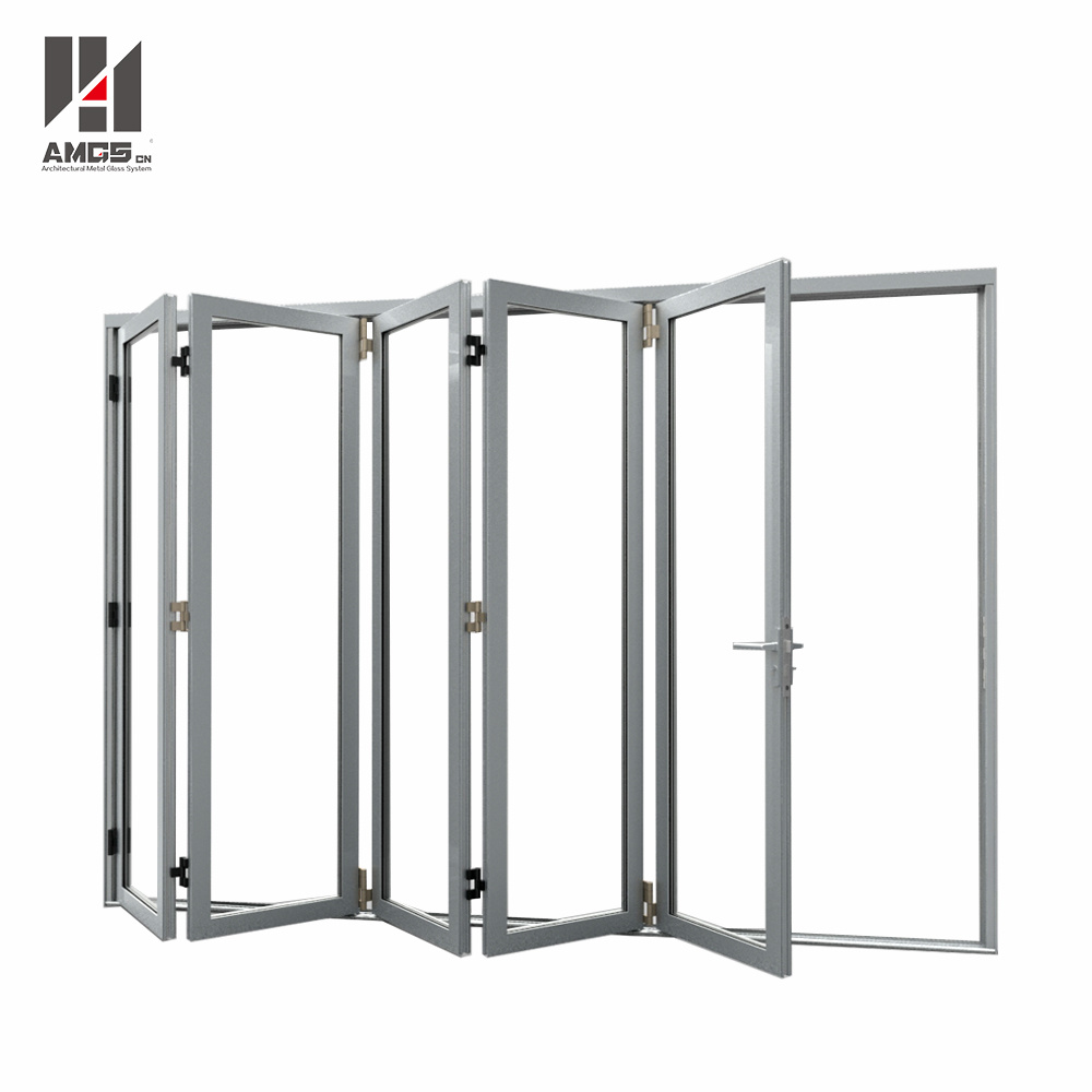 High Quality Customized Aluminum Folding Door with Double Glazing