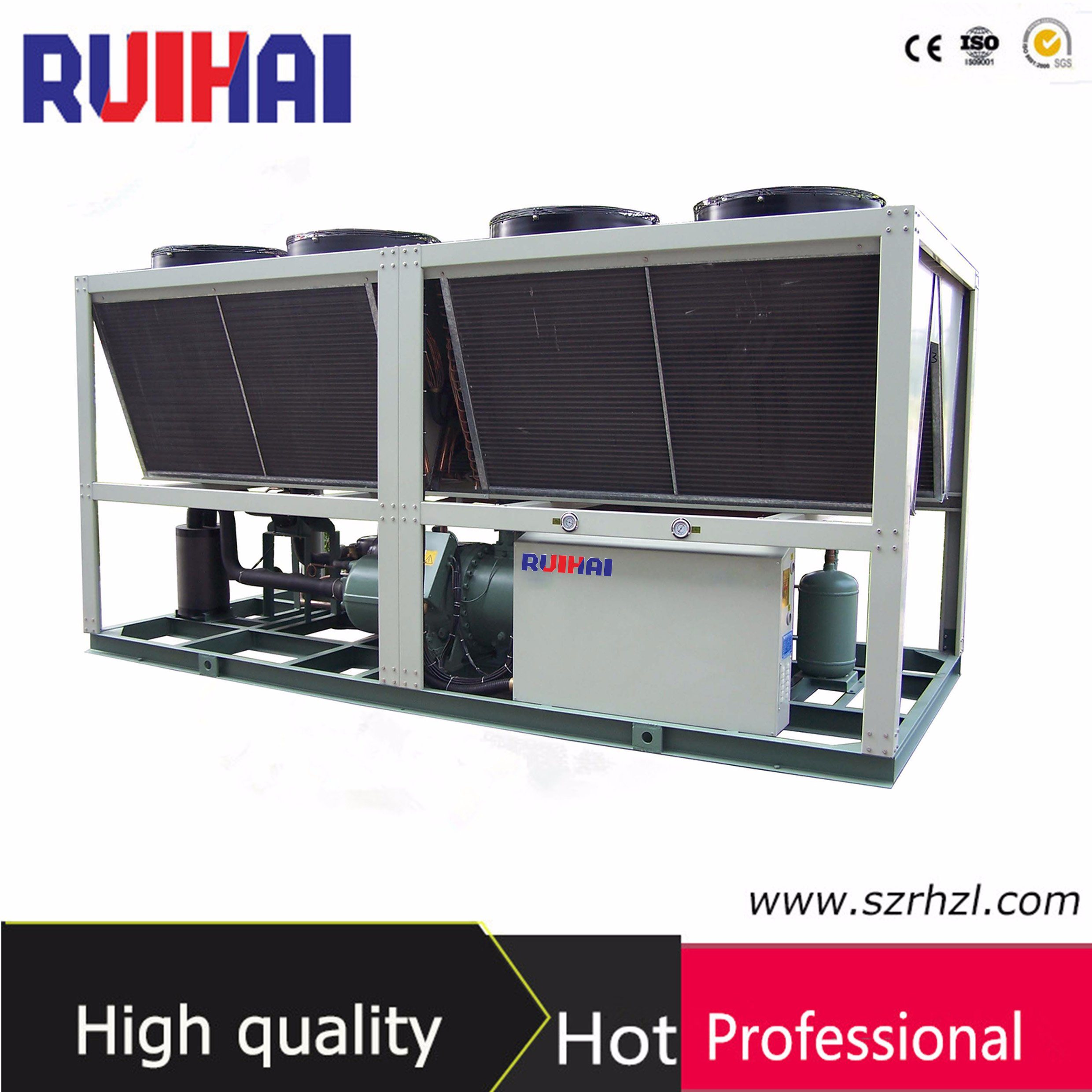 116.3kw Packaged Unit Low Noise Air Cooled Screw Type Water Chiller for Printing
