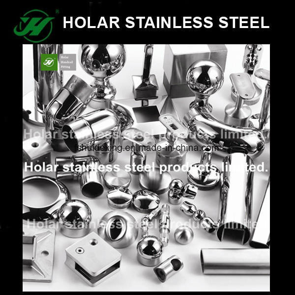 Stainless Steel Staircase Handrail Fittings / Accessories