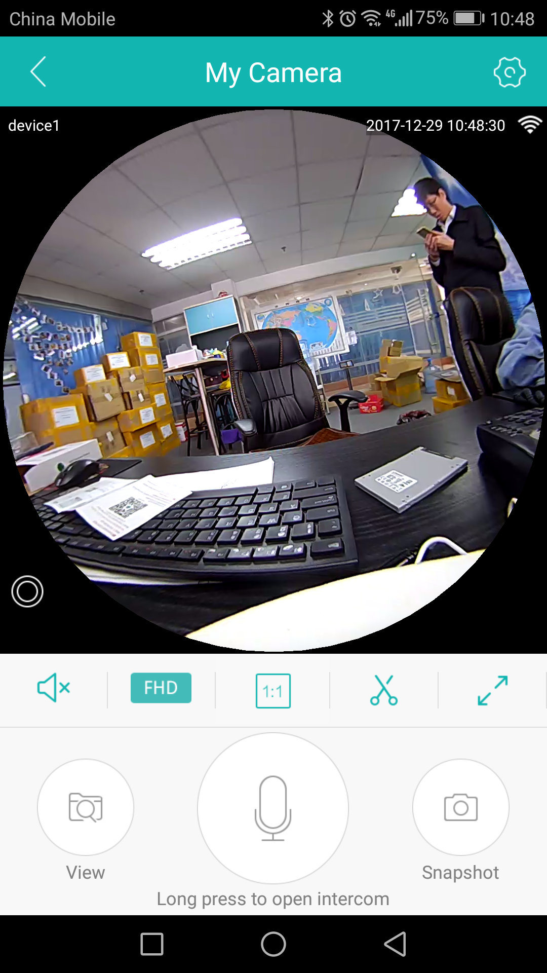 360 Degree Fisheye Panoramic Camera HD Wireless Vr Panorama HD IP Camera P2p Indoor Security WiFi Camera