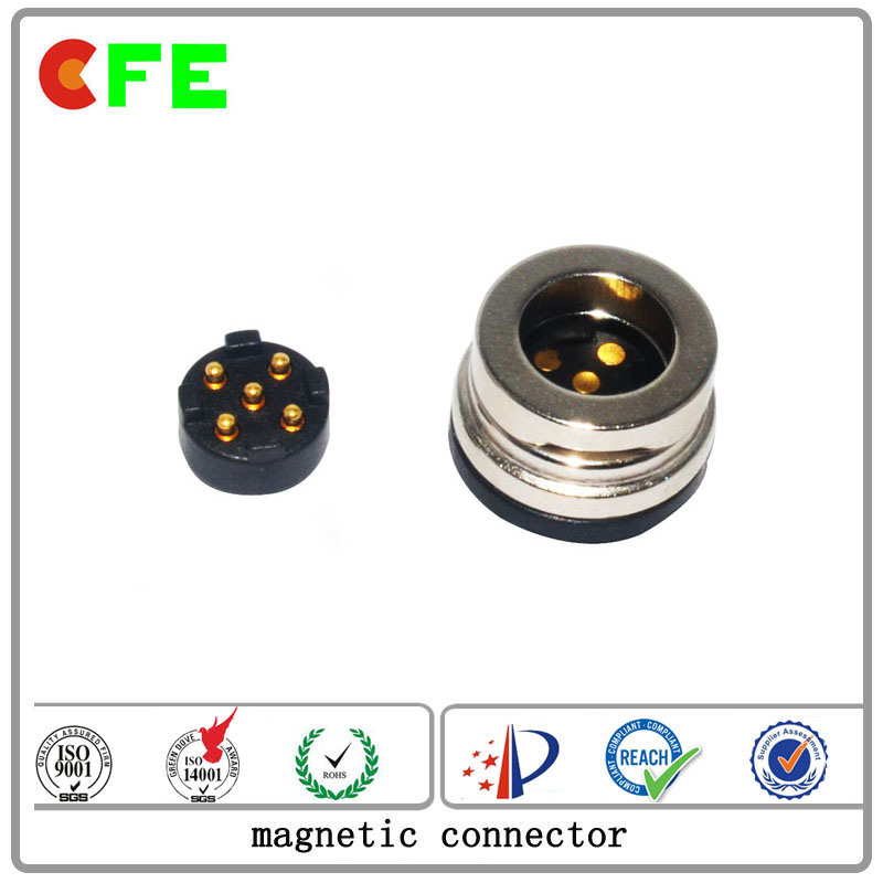 Customized 5pin Magnet Male and Female Pogo Pin Conncetor