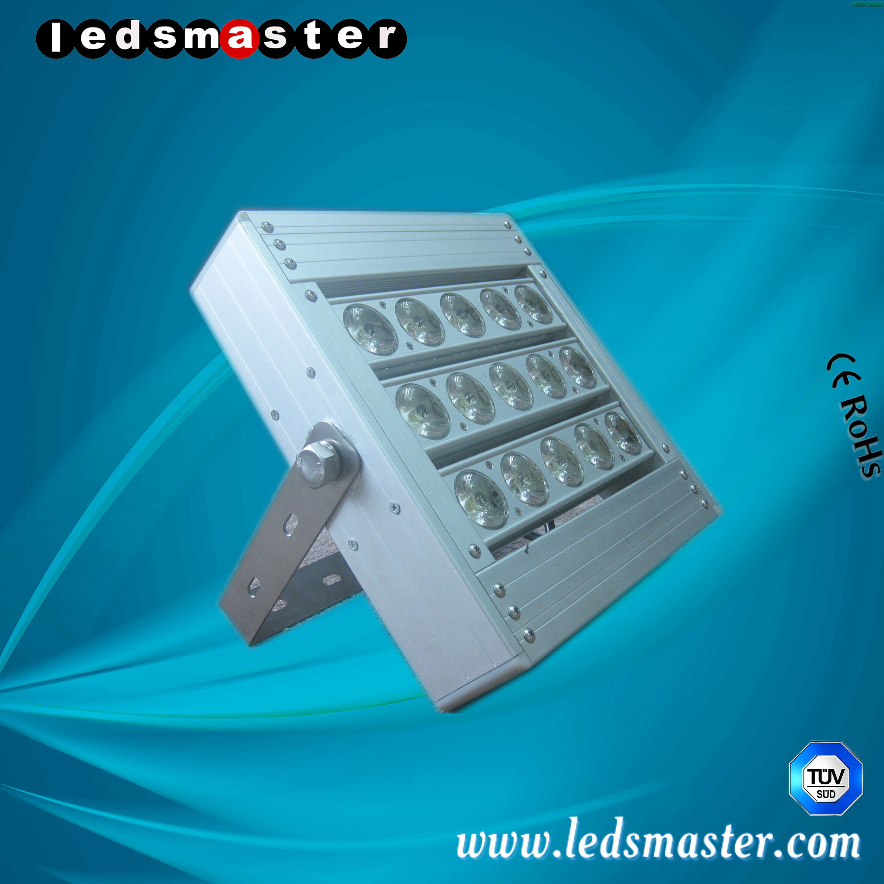 High Power Advertising Light 120W LED Billboard Light 6-25m Pole Height