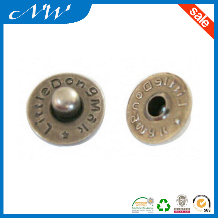 Factory Price Metal Rivets Brass Nipple up Rivet