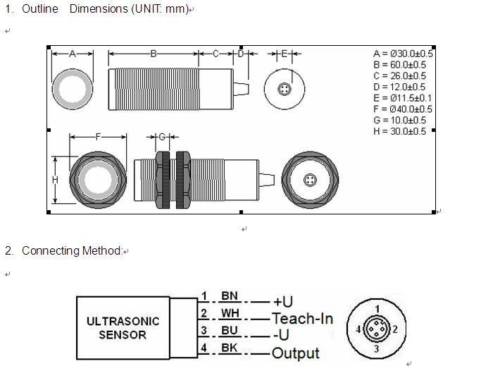 Ultrasonic Long Distance Level Sensor