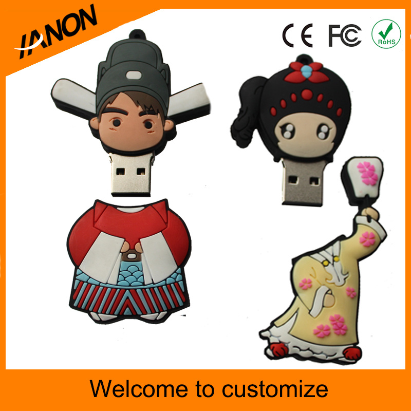 Accept Customized People USB Flash Drive for China Style