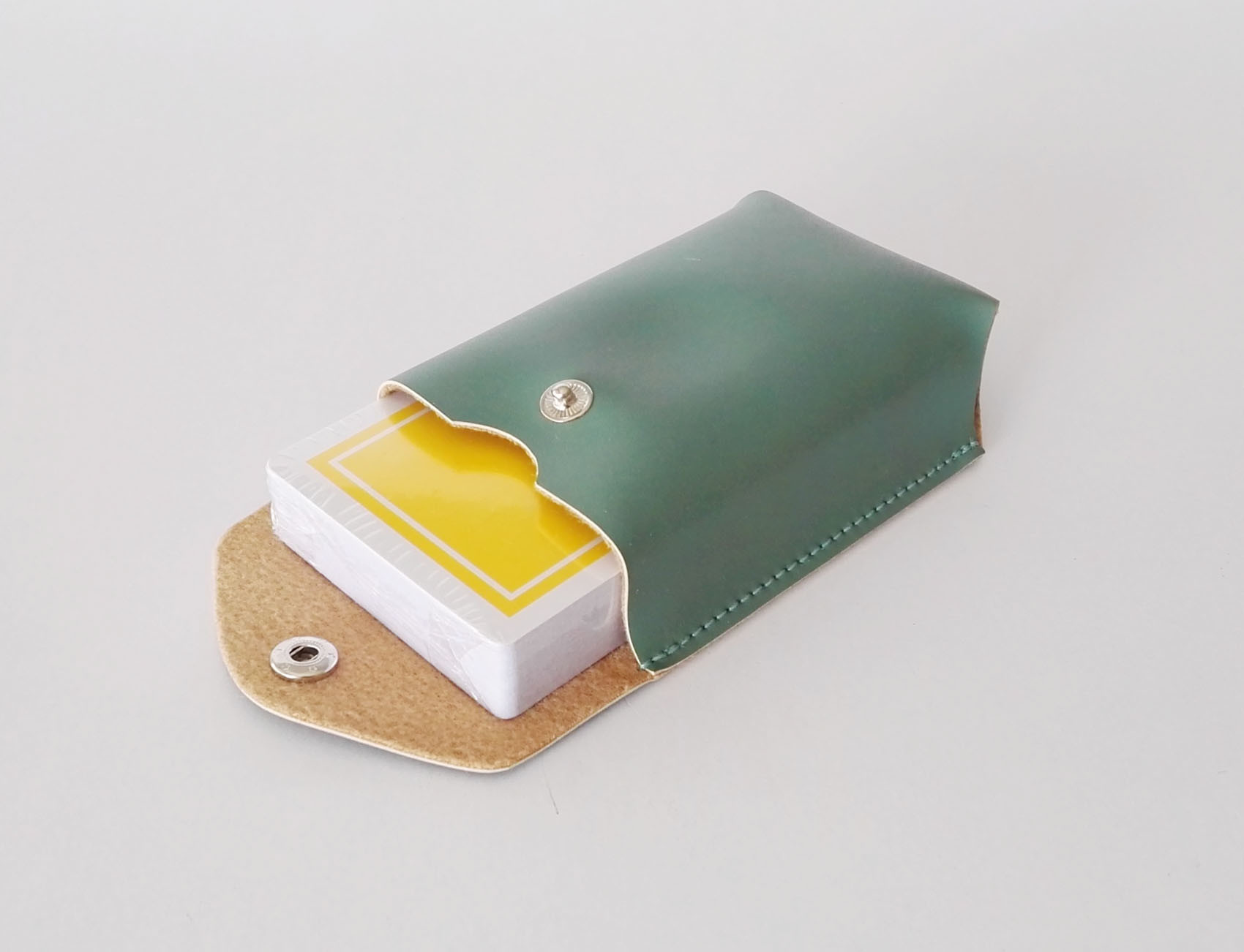 Single Set Poker Cards in Leather Bag