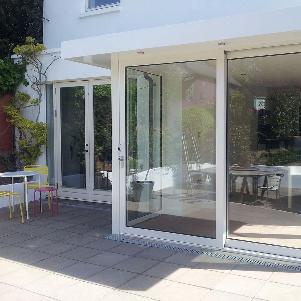 White/Black/Gray/Brown Aluminum Frame Sliding Glass Door