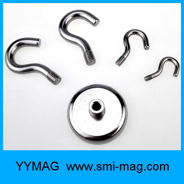 High Quality Rare Earth Neodymium Pot Magnetic Hooks