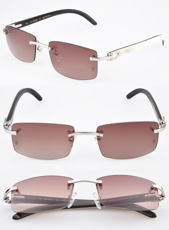 Natural Buffalo Horn Sunglasses Glasses Carter Retro