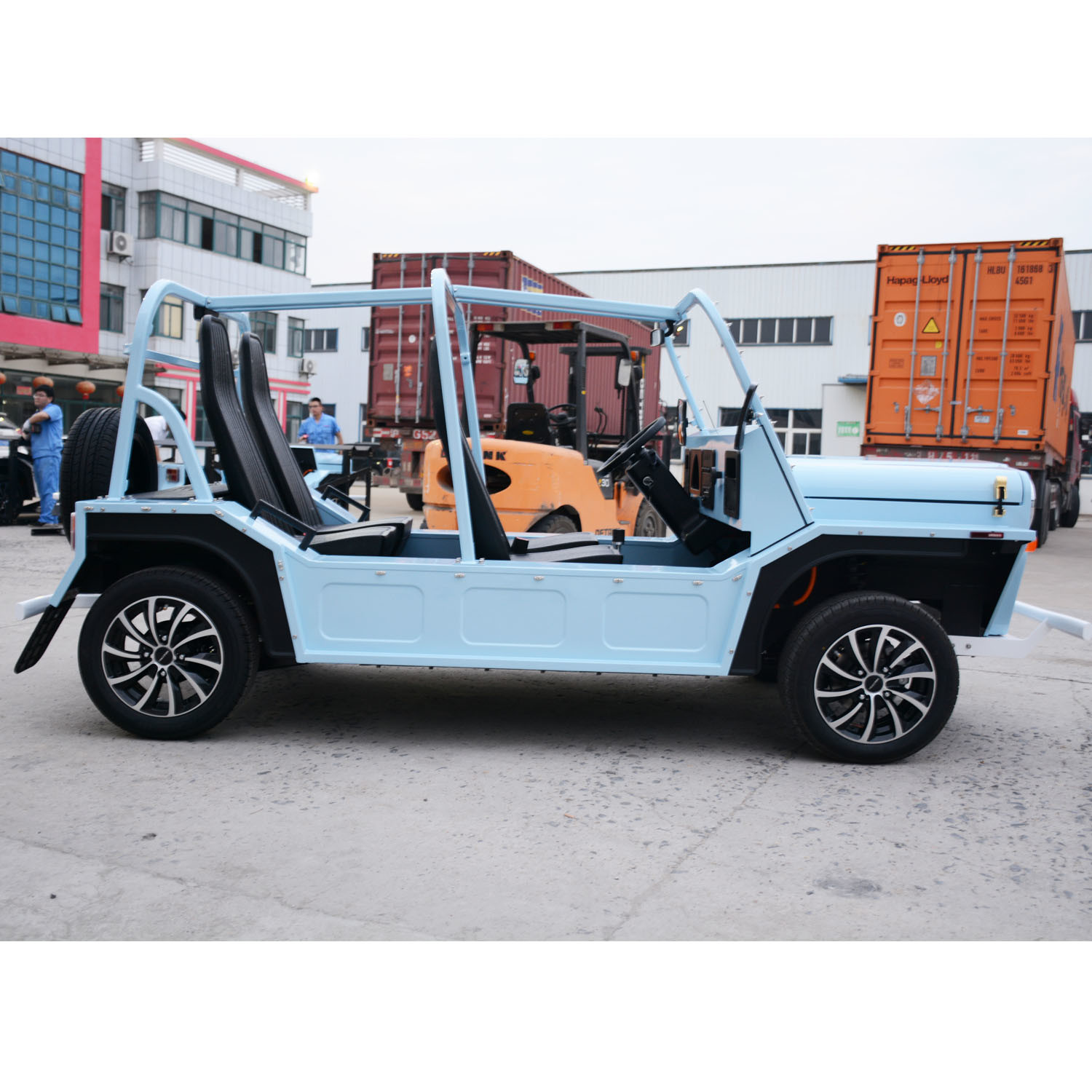 Electric Tourist Coach Sightseeing Car with 60 Km Max Speed