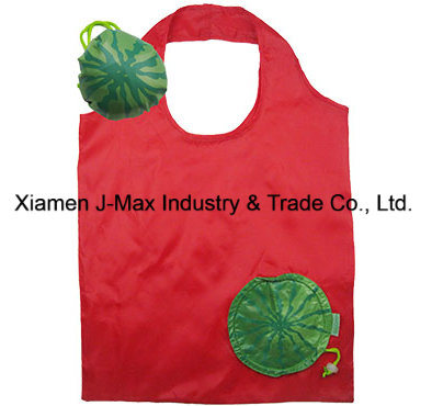 Foldable Shopper Bag, Fruits Watermelon Style, Reusable, Lightweight, Grocery Bags and Handy, Gifts, Promotion, Accessories & Decoration