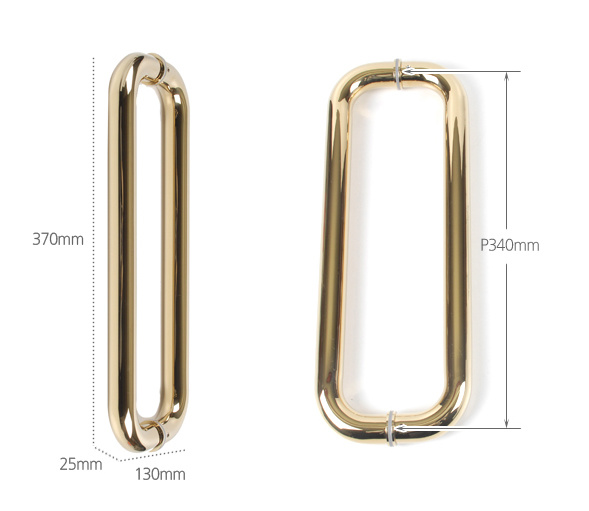Stainless Steel Golden Color D Style Fitting Glass Pull Handle