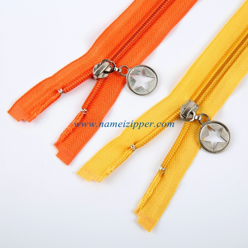 No. 5 Nylon Zipper Auto Lock Slider Open End