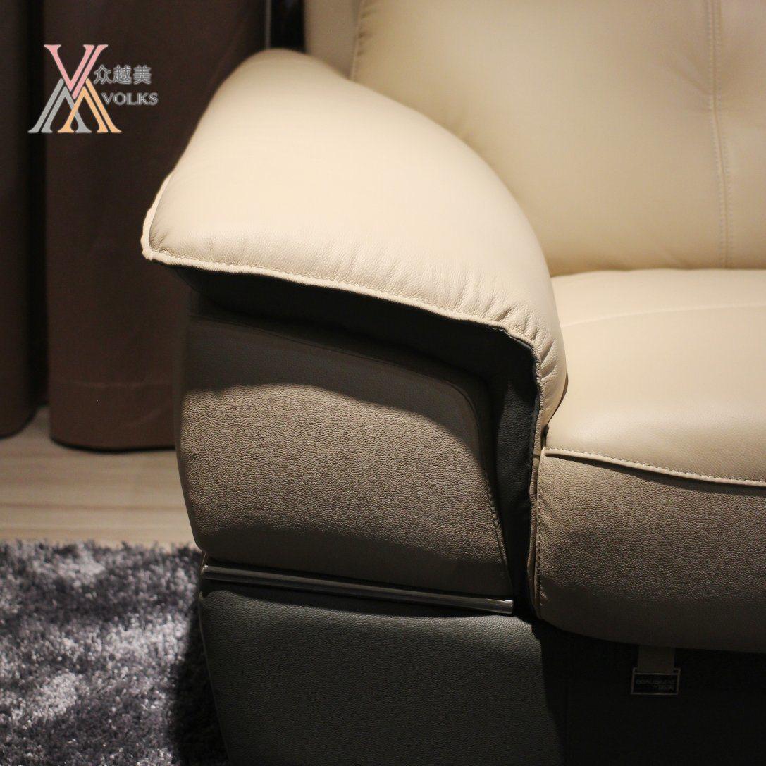 Modern Leather Sofa with Armrest (1652A)