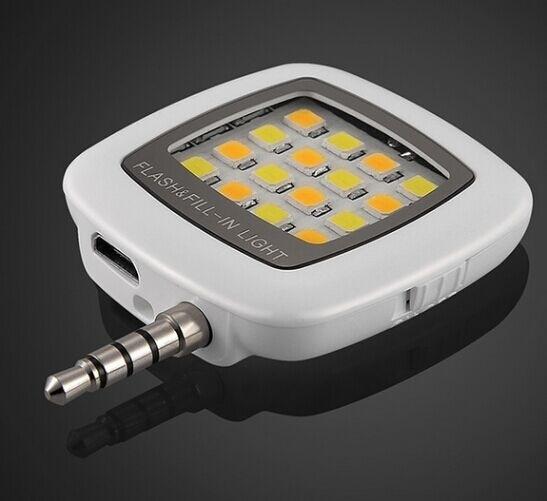 Portable Mini 16 LED Selfie Light Enhancing Dimmable Cellphone Camera Flash Fill-in Light