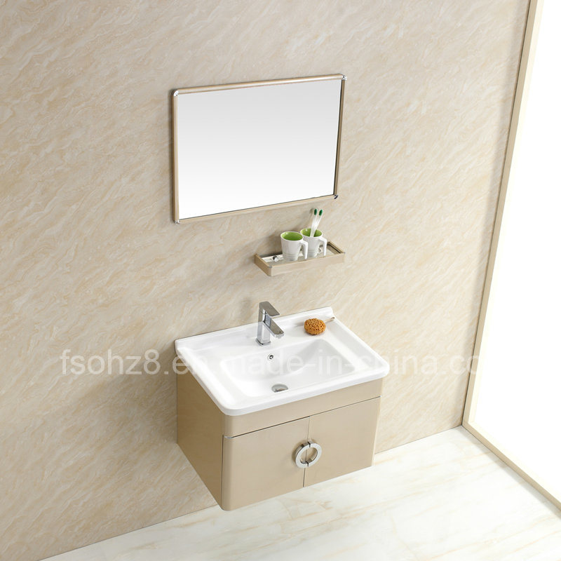 Modern Stainless Steel Bathroom Mirror Vanity Cabinet with Shelf
