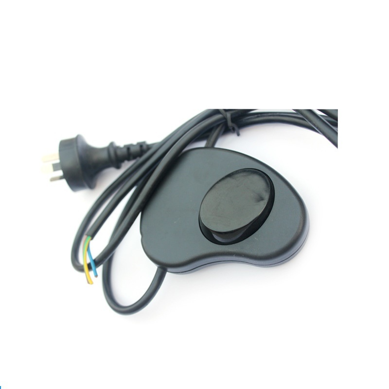 Australia SAA 3pins Plug with Foot Switch Power Cord 1.5m Black Color