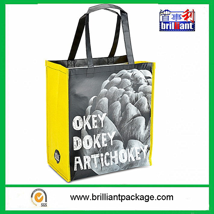 160g/Sqm Woven PP Shopping Bag Sized 50 X 40 X 17cm Full Color on 5 Sides