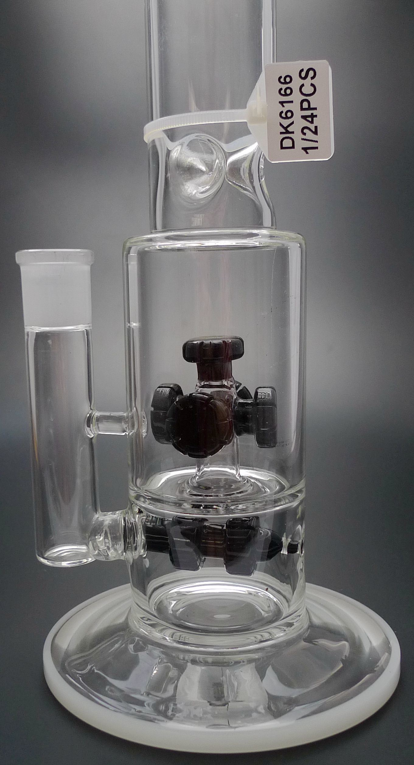 D&K Glass pipe Glass Bubbler Water Pipe Oil Rig with Glass Nail Dome and Bowl Water Pipes