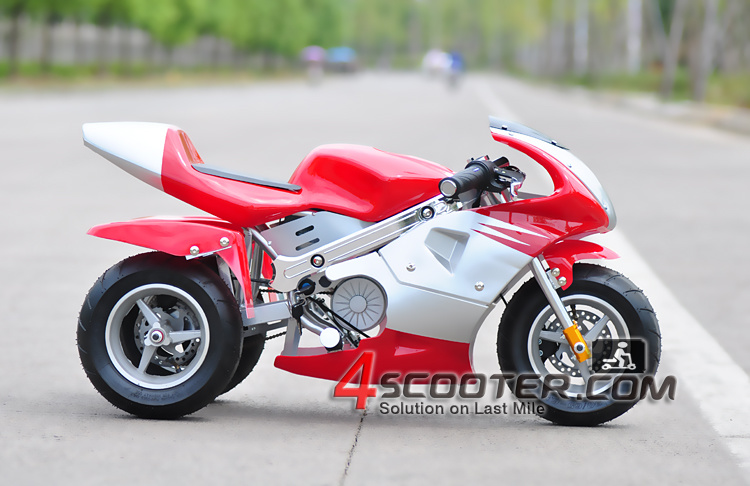 Durable 350W 24V Electric Pocket Bike with Tri-Wheels