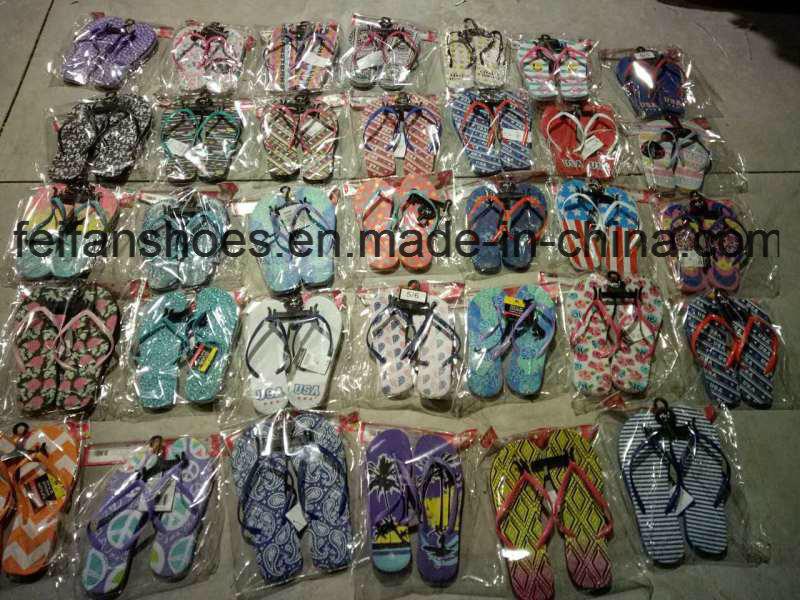 Mixed Designs Women&Men Slippers Stocks Sandals Stocks (FFST111801)