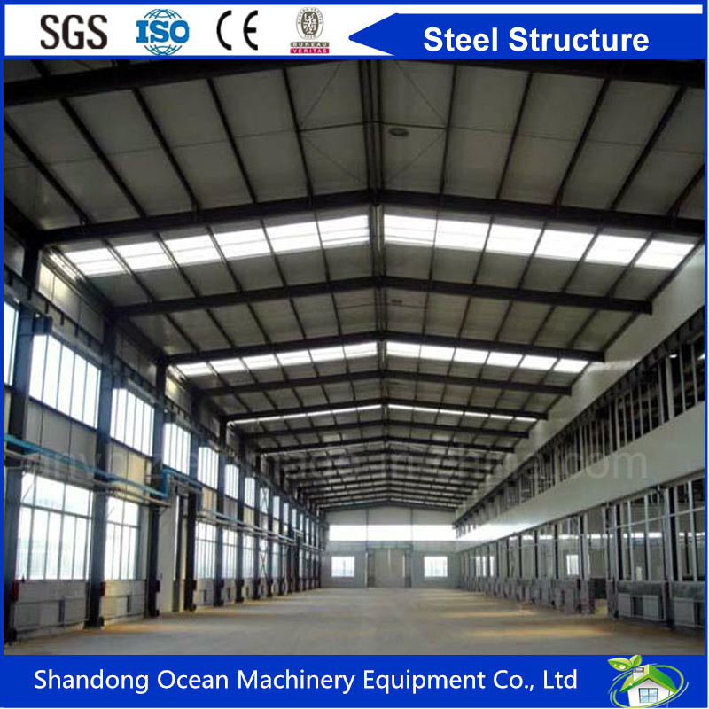 Long Span Prefabricated Steel Structure Factory Workshop and Warehouse with Cheap Price and Good Quality
