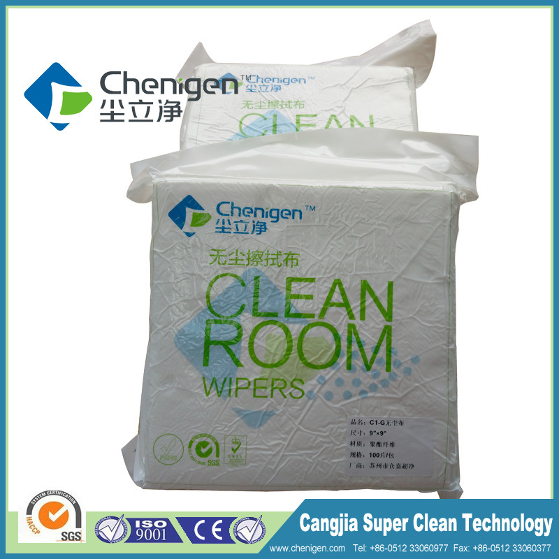 Top Good Quality ISO 5 Wiper Clean Room Wiper 100% Polyester Wiper for Industry