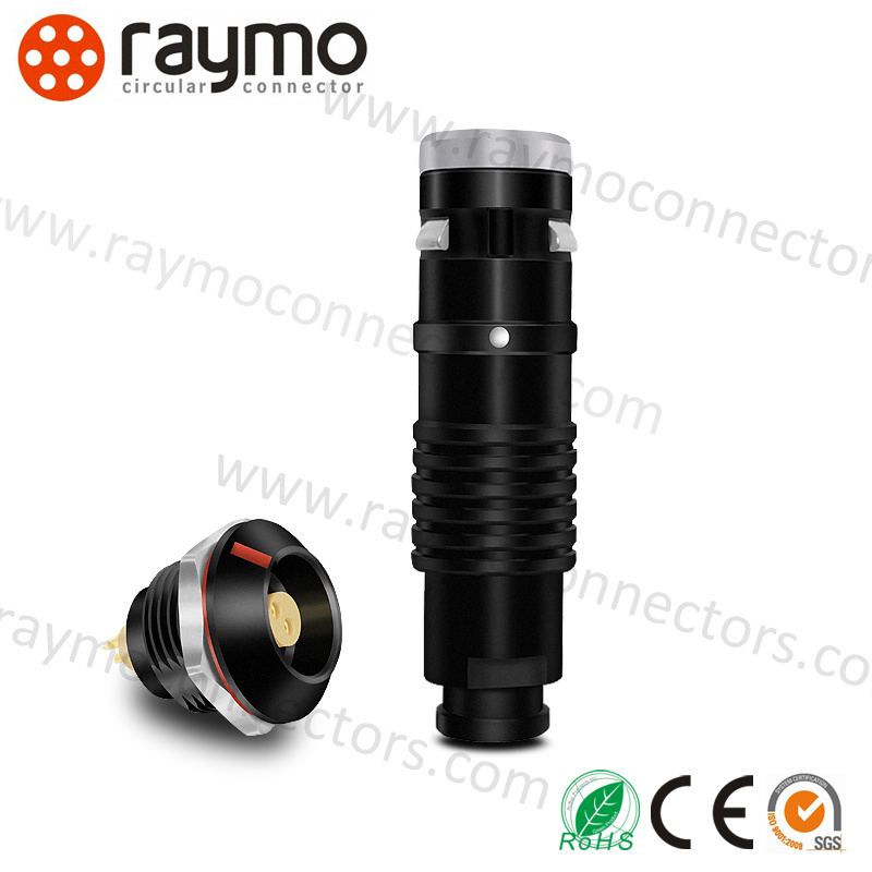 Black Chrome Circular Cable 2 Pin Power Waterproof Connector